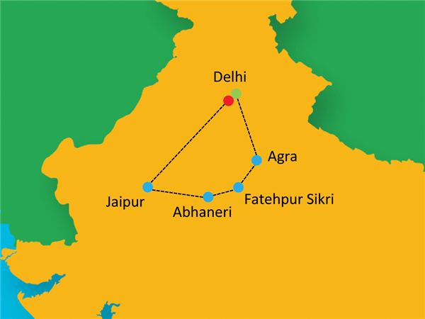 Golden Triangle Route Map