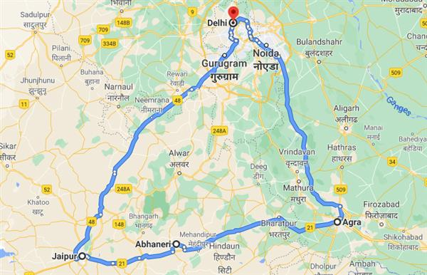 Golden Train - Golden Triangle With Indian Train Experience Route Map